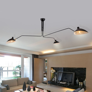 E27 luxury round ceiling lamp black suspension lamp shades for ceiling