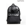 New design Black Laptop Brand Backpack Bag with PU leather