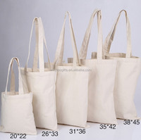 Wholesale standard Size cotton canvas tote bag with customized Logo
