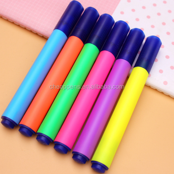 school stationery customized color highlighter marker promotional art marker type