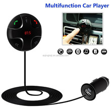 Bluetooth FM Transmitter,Car Kit Hands-Free Wireless Calling Magnetic Mount Music Adapter Receiver with USB Charger
