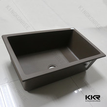 kkr fancy composite quartz stone undermount kitchen sink for project