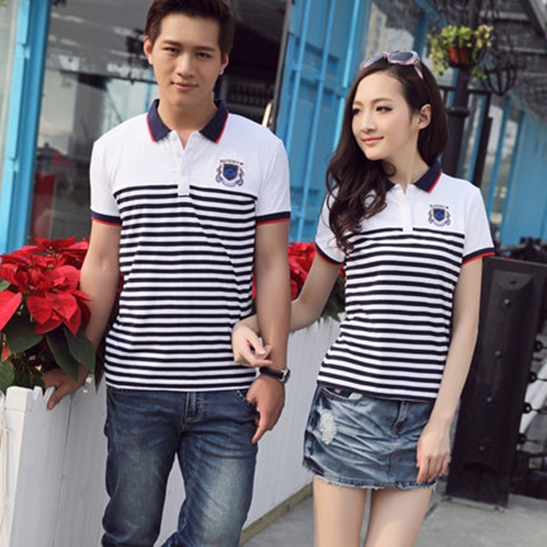 200 gsm mens cute couple shirt design 100 polo t shirt for Couple polo shirts online
