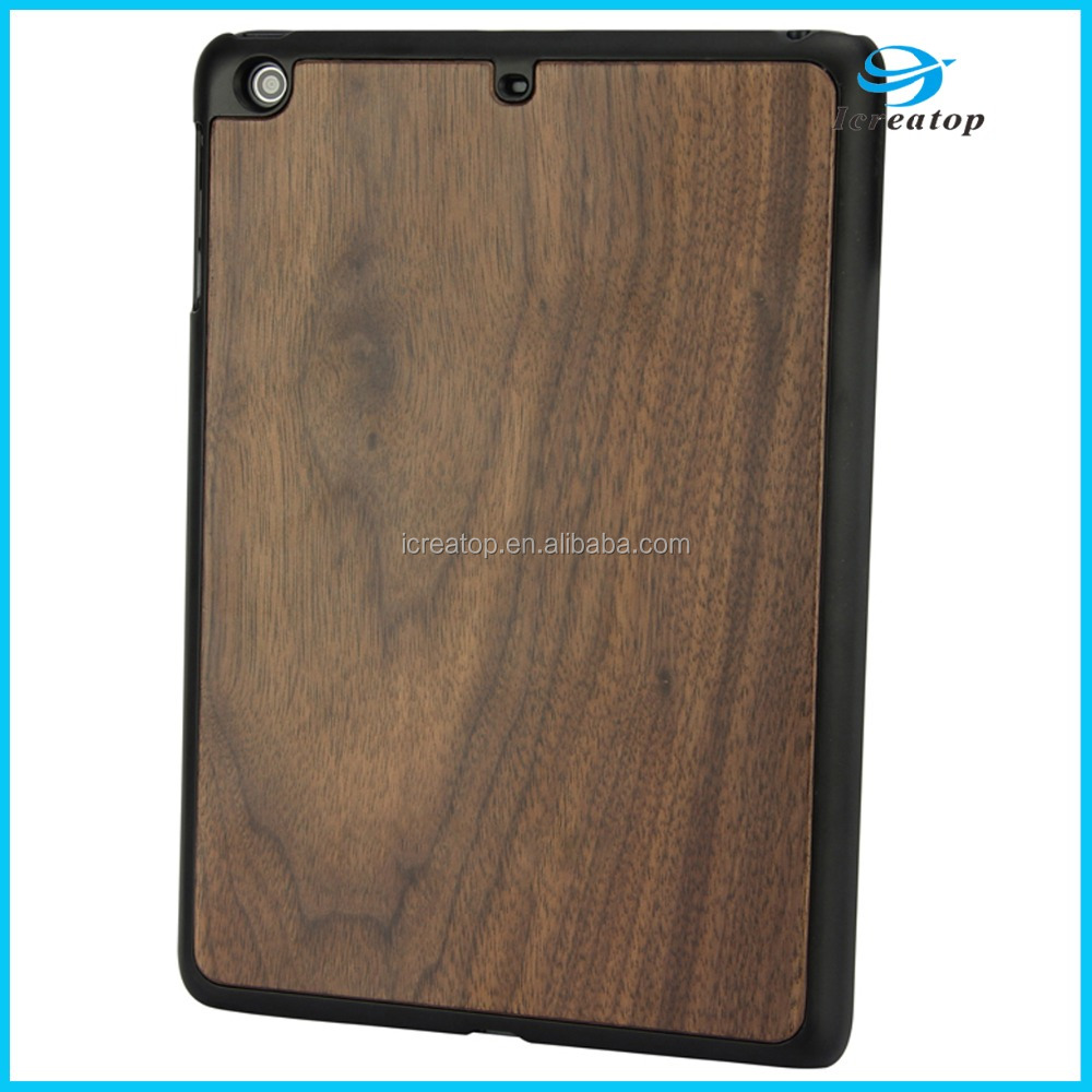 Natural wood sticker PC Plastic bottom phone case for iPad mini3 wood case 7.9 inch case for mini4