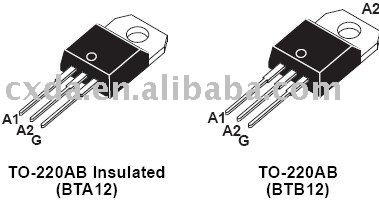 Integrated Circuits BTA12-600C ST IC CHIP