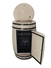 Natural White Finished Solid Wood Wine Barrel (Bf09-42029)