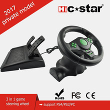 wholesale gaming pc racing steering wheel For PS3/PS4/PC 3 IN 1 console controllers racing steering wheel