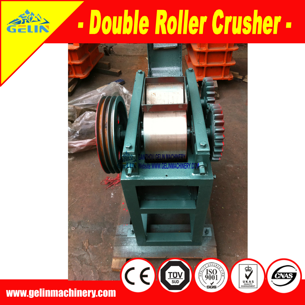 Widely used efficient cheap small double roll crusher for raw ore crushing in lab