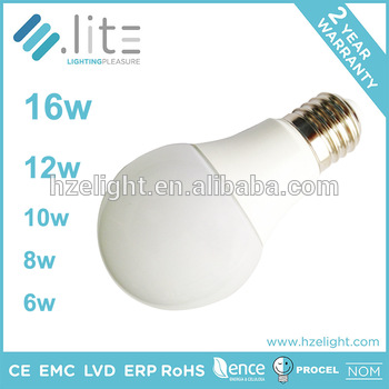 Hangzhou OEM Factory Led Lighting Bulb A60 A19 6w Dimmable 470lm European Standard Plastic Cover E27 Base High Quality Assured