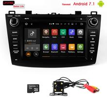 mazda 3 android 7.1 car dvd player with navigation sd card built-in 3G 2GB RAM support radio tv BT dab+ parts
