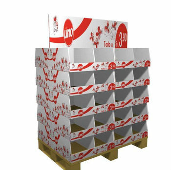 promotional two sided cardboard pallet display widely used in supermarket or bookshop