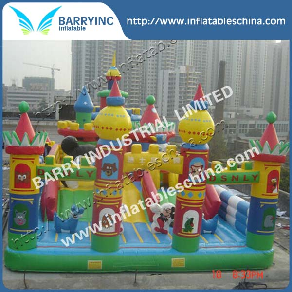 Giant Inflatable animal paradise park for promotion