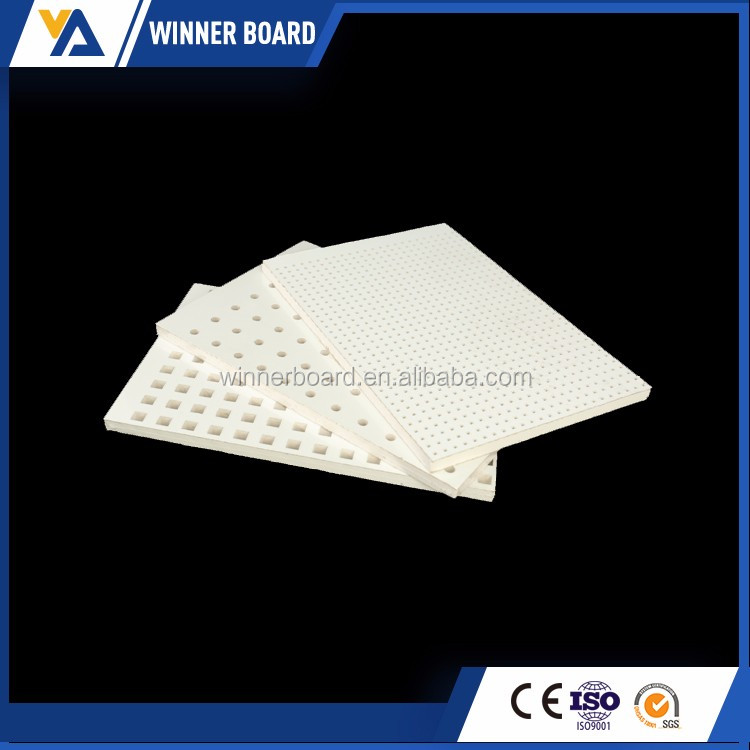 acoustic perforated gypsum plaster board 4-8mm thickness