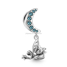 Factory Latest Charm,Moon Goddess Dangle Charm,925 Silver Charm