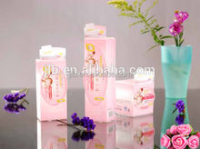 Cosmetic plastic packaging box clear PVC PET makeup package suppliers