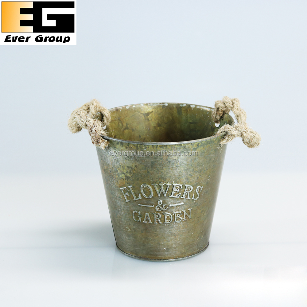 Copper Flower Vase Antique Metal Garden Mini Planters