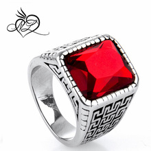 vogue jewelry 316L stainless steel square stone ring