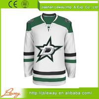 Oem polyester blank practice ice hockey jerseys team set dallas stars