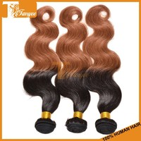 Cheap and good quality 3pcs 12 14 16 human ombre hair weft grade 5a Indian body wave hair extensions color 1b 30