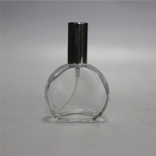clear perfume glass bottle with aluminium spray pump