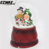 Unique personalized resin christmas ornaments snow globes for kids craft