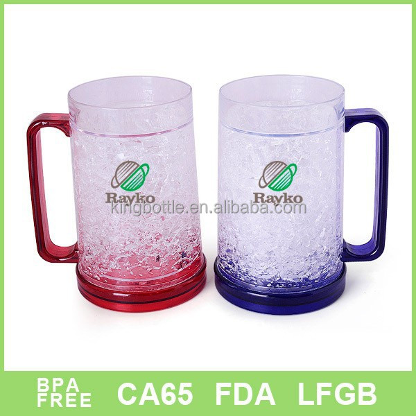 Double wall Gel freezer mug for beer