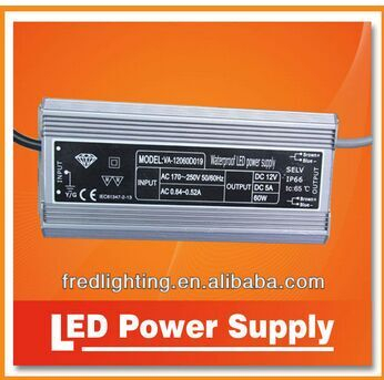 Constant current switching waterproof LED power supply 60W