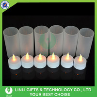New Style Rechargeable Safety LED Tea Light Candle With Cups Supplier For Christmas Decoratoin