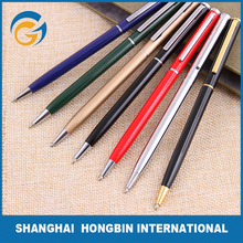 Fashion Slim Body Metal Ball Pen with Clip for Business