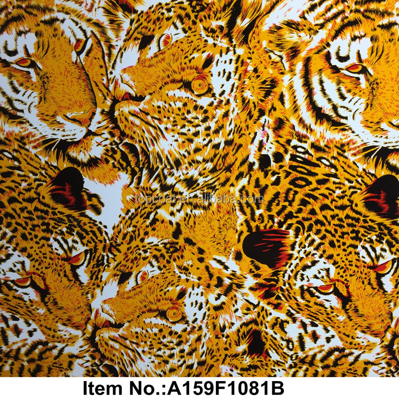 Hot sale tiger animal water transfer printing film for car wheel