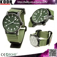 PVD coating Stainless Steel Military Army Nylon Band Quartz Wrist Watches