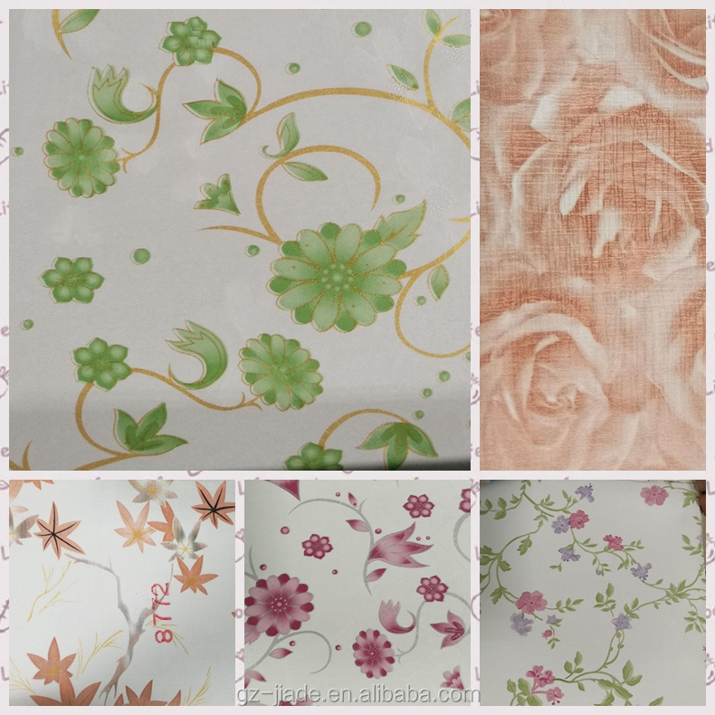 Novel Designs Self Adhesive PVC Wallpaper Foil with hundreds of marble, wood grain, flower and fashion designs