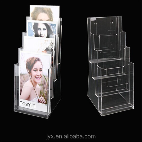 A-1494 Clear acrylic brochure holder, plastic brochure holders