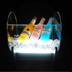 Custom Design Acrylic LED Wine Bottle Glorifier Lighting Display for Bar
