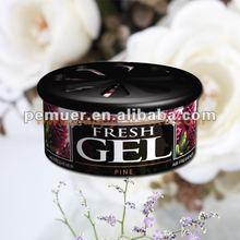 2012 new metal tin can gel air freshener made of wood pulp with 70g