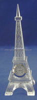 personalized design Eiffel tower crystal clock