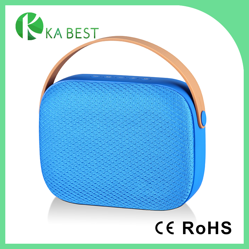 2017 New Product Handbag Shape Fabric Portable Big Bass Stereo Bluetooth Speaker