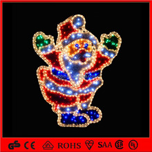 2014 outdoor Christmas decorations santa claus motif rope light