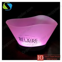 2017 high quality custom plastic acrylic ice bucket Plastic ice bucket,Multi Color Led Ice Bucket