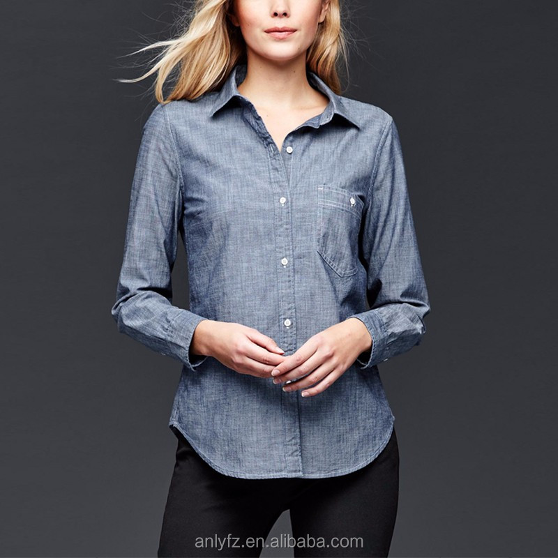 Anly wholesales classic all-match soild color blouse design for women online shopping china