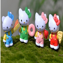 resin kawaii Ornament fairy Garden miniatures Kids Toy Home terrarium resin craft[} wholesale miniature hello kitty figurines