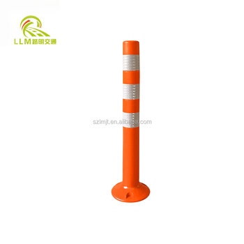 Height 110cm colorful flexible traffic caution road safety pole