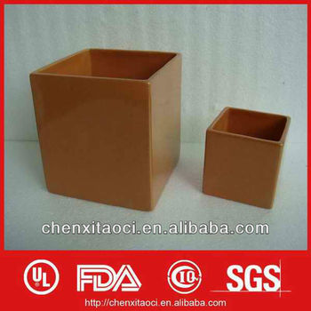 square planter ceramic,porcelan round flower pot,square white ceramic planter
