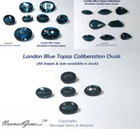 Best shade of Blue Topaz, London Blue Topaz in all shapes and sizes