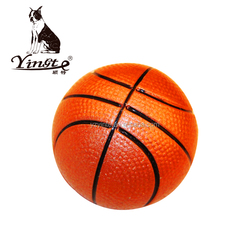 Wholesale rubber small basketball pet toy dog rubber training Ball