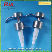 28mm neck size stainless steel lotion pump , metal shampoo dispenser pump
