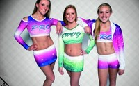 Wholesale Customized Breathable Cheerleading Costumes, Sublimation Cheer Uniforms