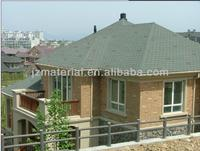 Colorful Hexagonal/Mosaic/Rhombic Fiberglass Asphalt Roofing Shingles /Bitumen roofing shingles with CE, ISO9000 (factory)