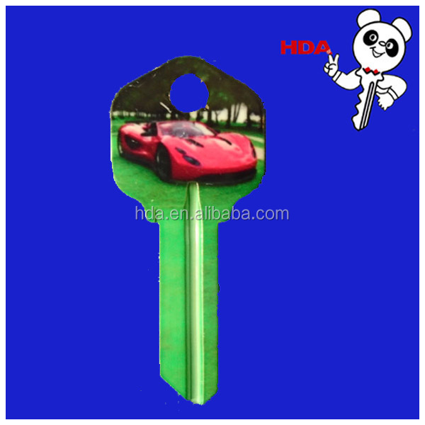 color blank key with pattern to USA,Europe,Australia kt007