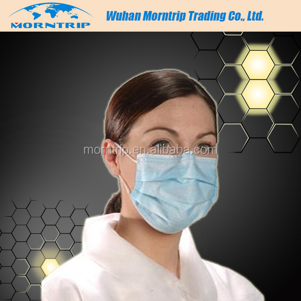 for Tattoo Studio Cheap Price Free Sample Latex Free High Quality Non Woven Disposable Face Mask with Round Elastic Band